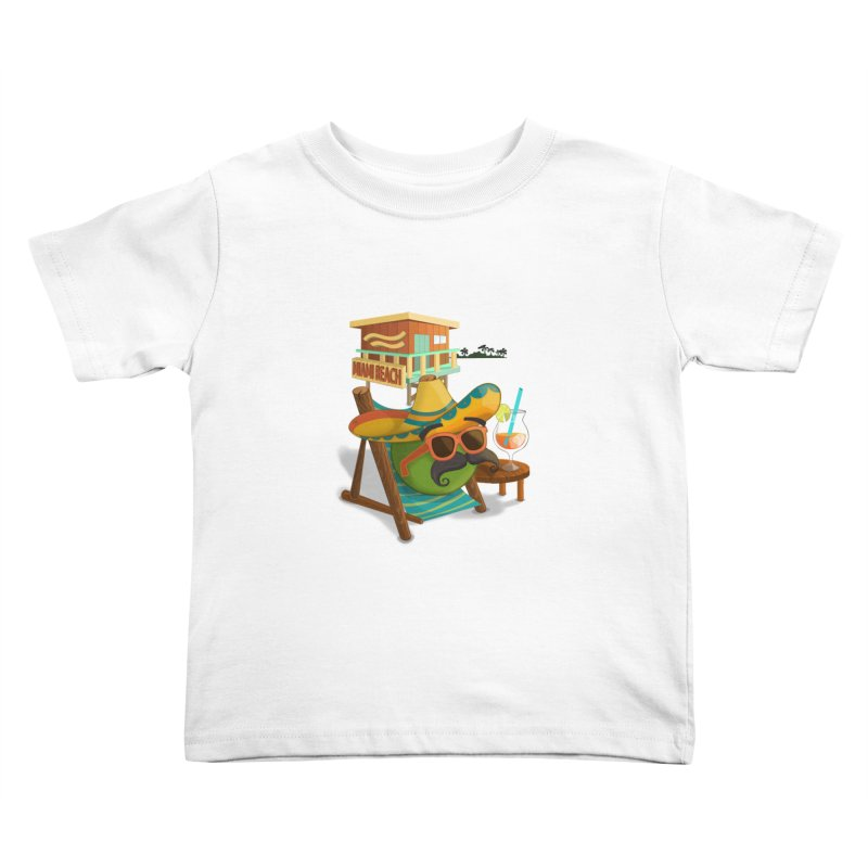 Juan at Miami Beach Kids Toddler T-Shirt by Mimundogames's Artist Shop
