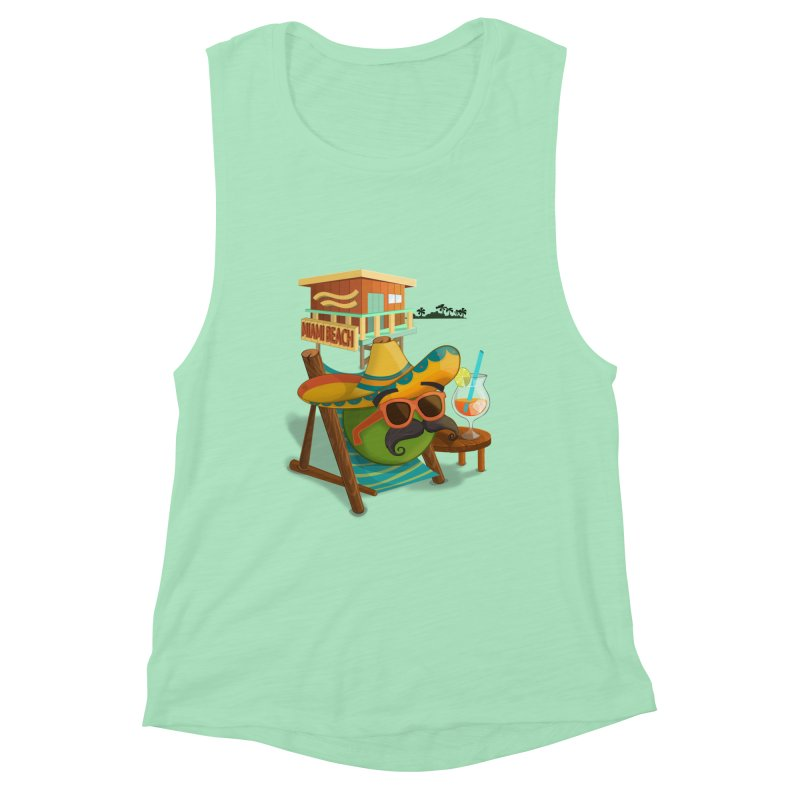 Juan at Miami Beach Women's Tank by Mimundogames's Artist Shop