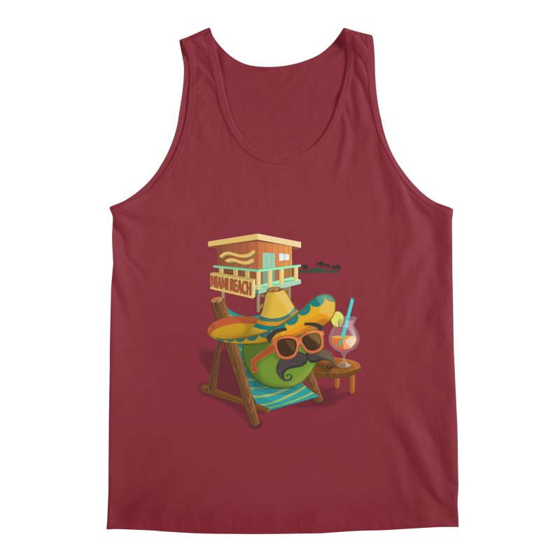 Juan at Miami Beach Men's Tank by Mimundogames's Artist Shop