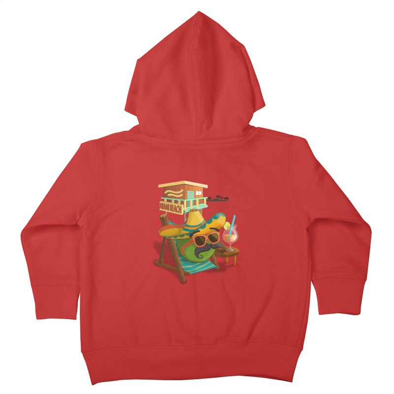 Juan at Miami Beach Kids Toddler Zip-Up Hoody by Mimundogames's Artist Shop