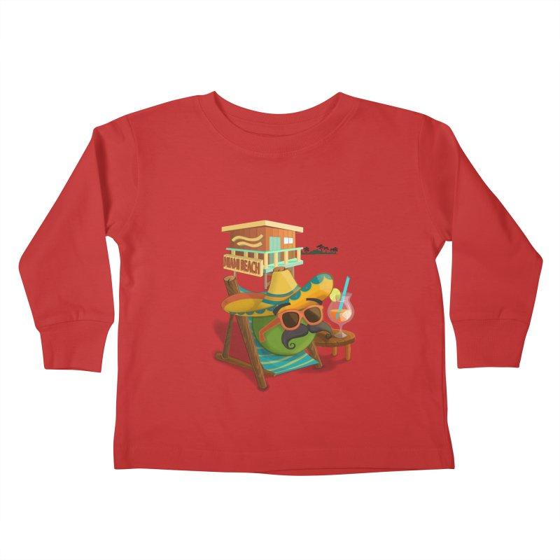 Juan at Miami Beach Kids Toddler Longsleeve T-Shirt by Mimundogames's Artist Shop