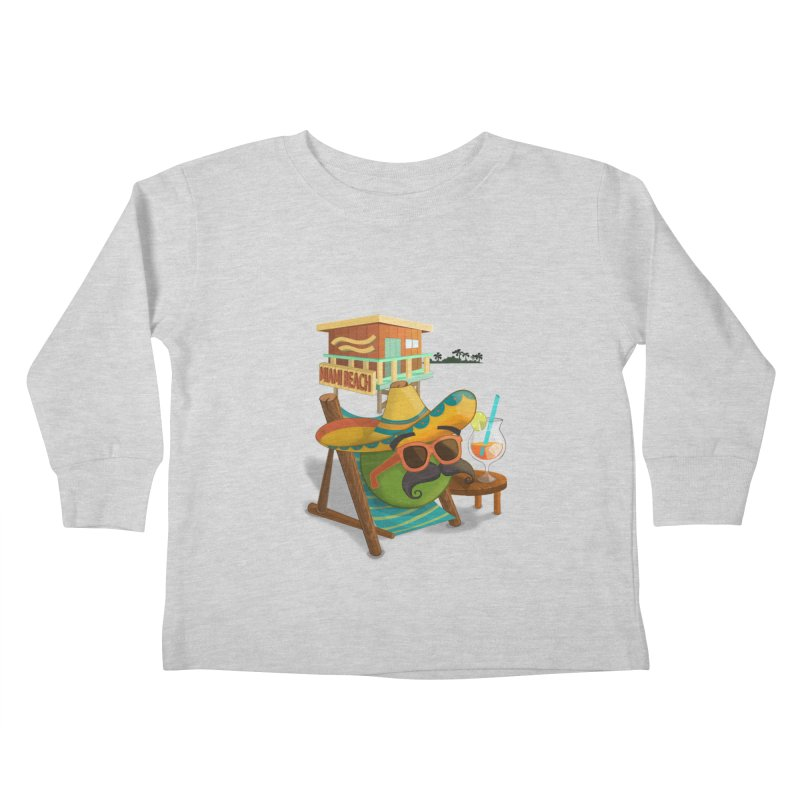 Juan at Miami Beach Kids Toddler Longsleeve T-Shirt by Mimundogames's Artist Shop