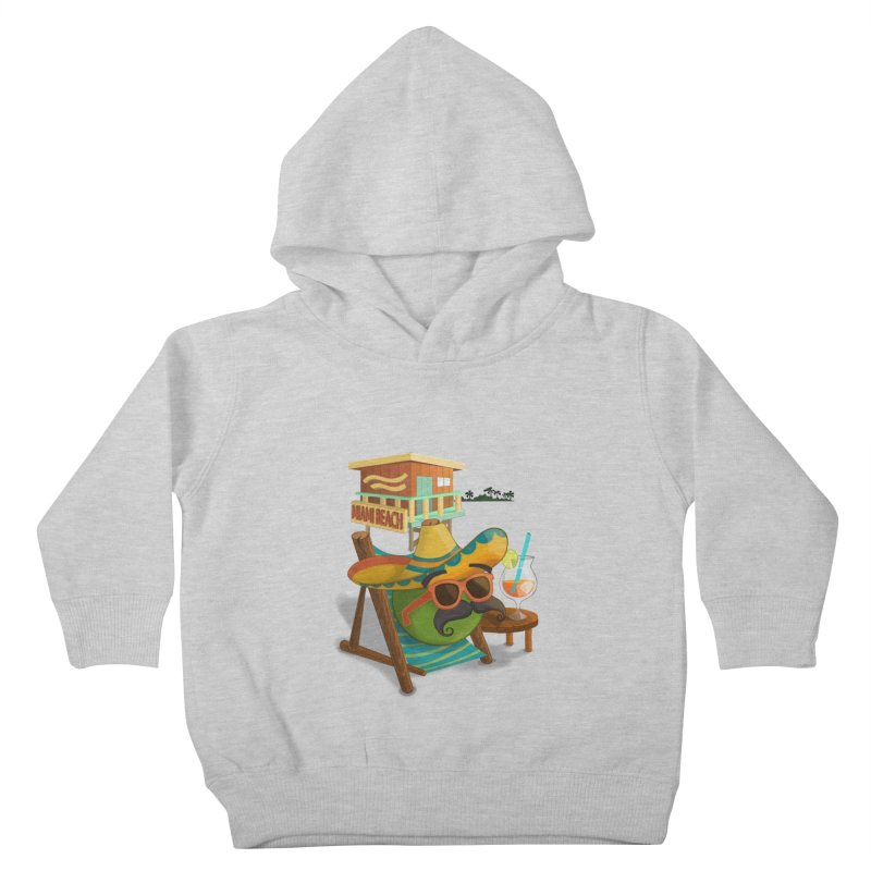 Juan at Miami Beach Kids Toddler Pullover Hoody by Mimundogames's Artist Shop