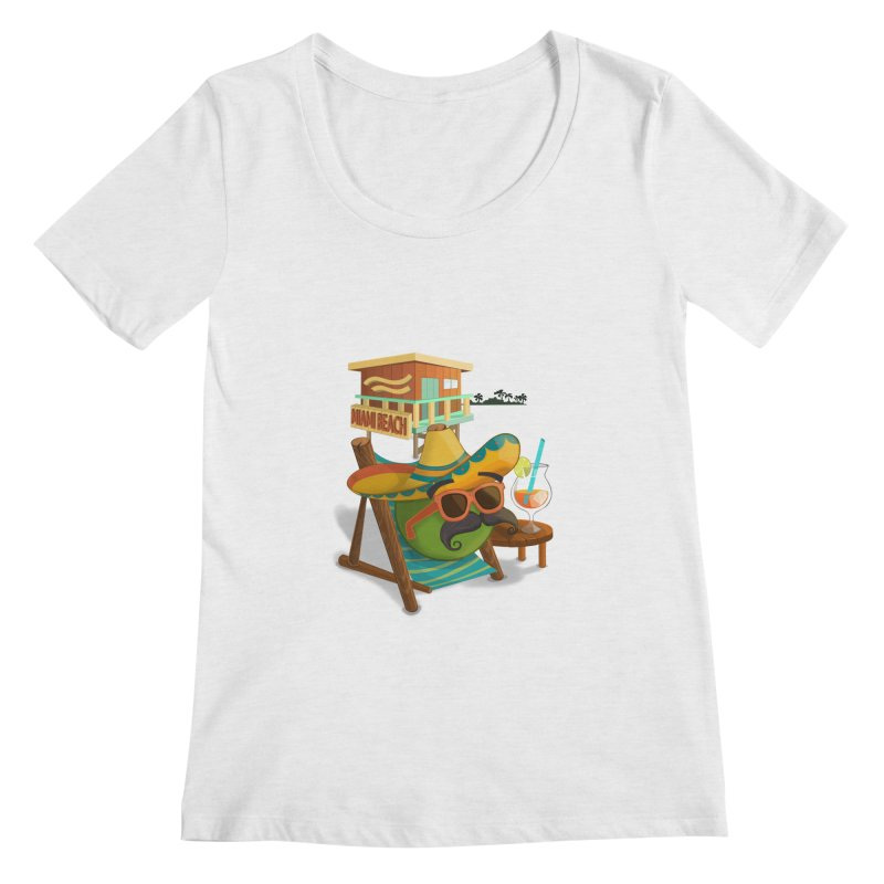 Juan at Miami Beach Women's Regular Scoop Neck by Mimundogames's Artist Shop