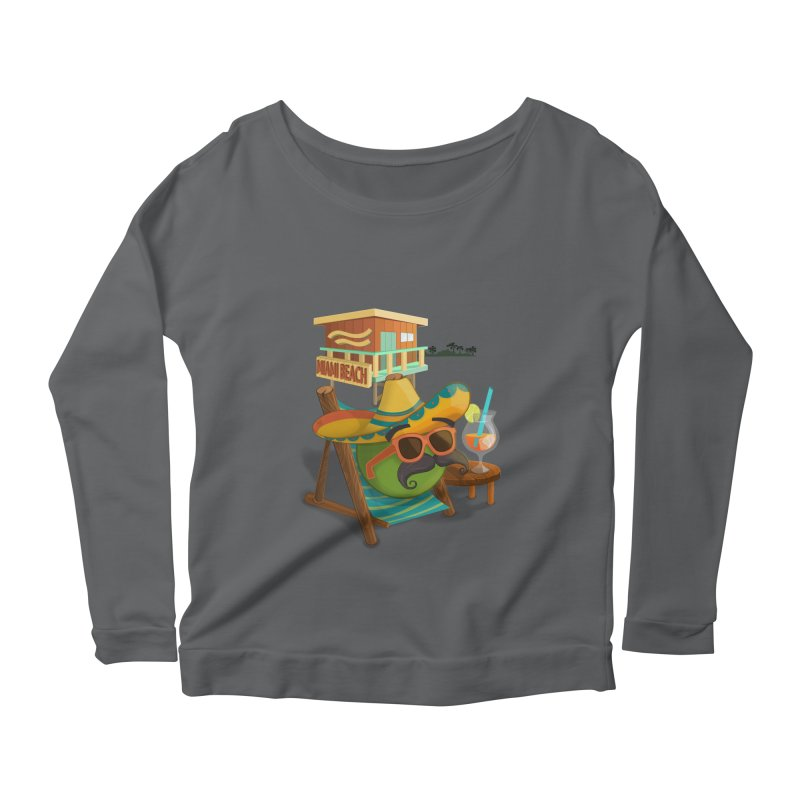 Juan at Miami Beach Women's Scoop Neck Longsleeve T-Shirt by Mimundogames's Artist Shop
