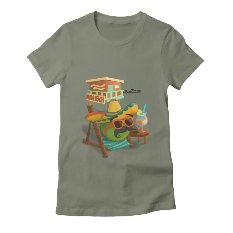 Juan at Miami Beach Women's Fitted T-Shirt by Mimundogames's Artist Shop
