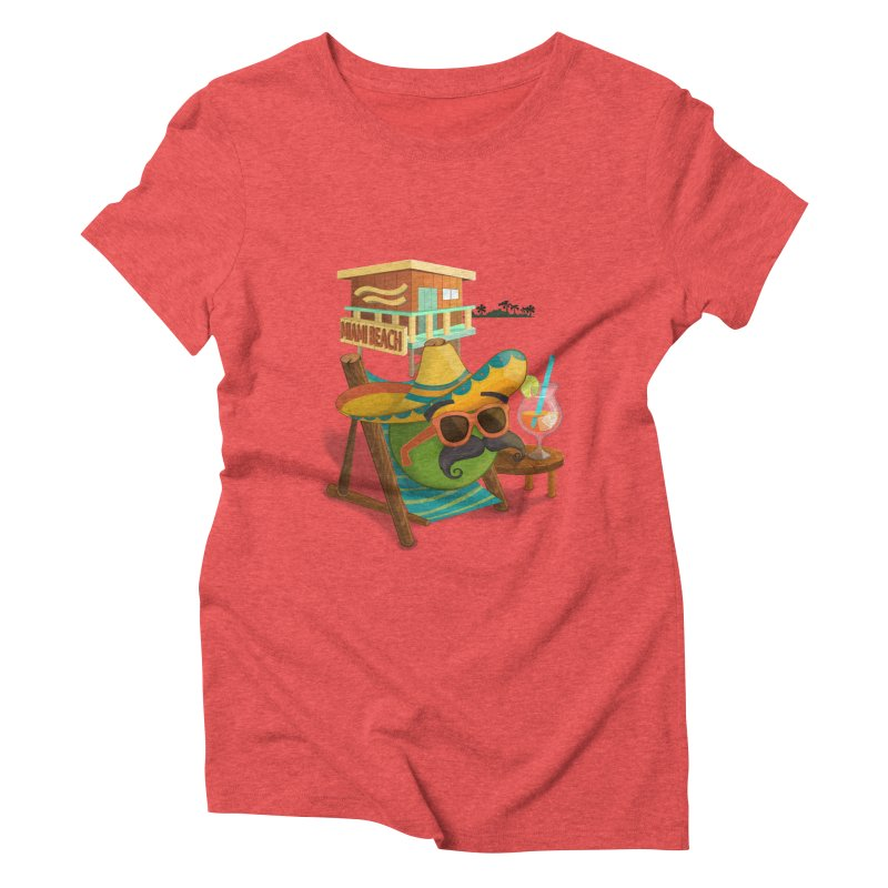 Juan at Miami Beach Women's Triblend T-Shirt by Mimundogames's Artist Shop