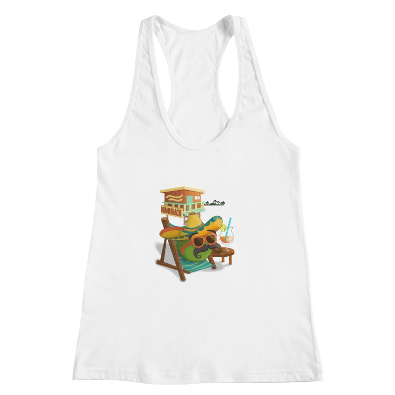 Juan at Miami Beach Women's Racerback Tank by Mimundogames's Artist Shop