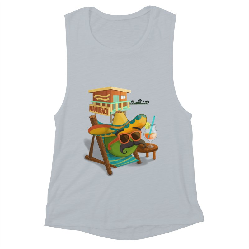 Juan at Miami Beach Women's Muscle Tank by Mimundogames's Artist Shop