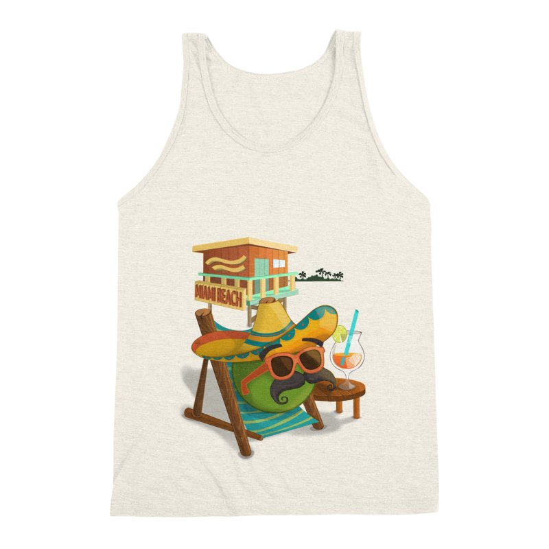 Juan at Miami Beach Men's Triblend Tank by Mimundogames's Artist Shop