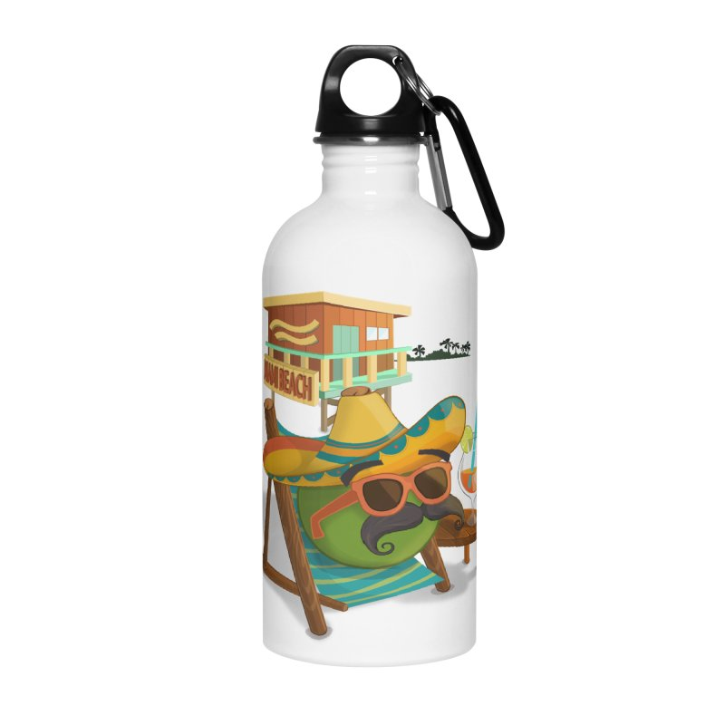 Juan at Miami Beach Accessories Water Bottle by Mimundogames's Artist Shop