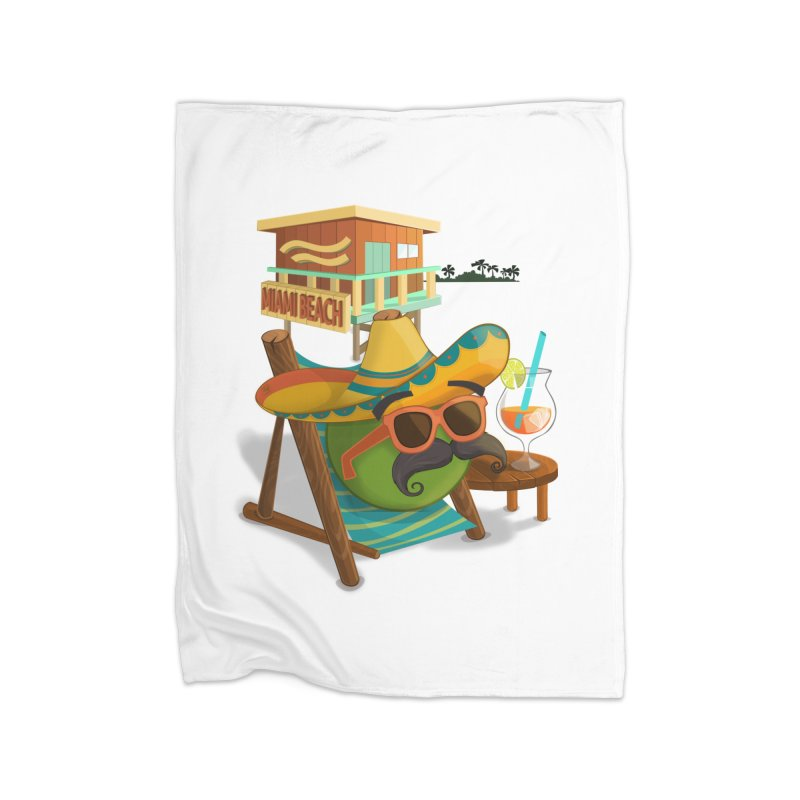 Juan at Miami Beach Home Fleece Blanket Blanket by Mimundogames's Artist Shop