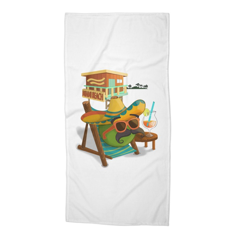 Juan at Miami Beach Accessories Beach Towel by Mimundogames's Artist Shop