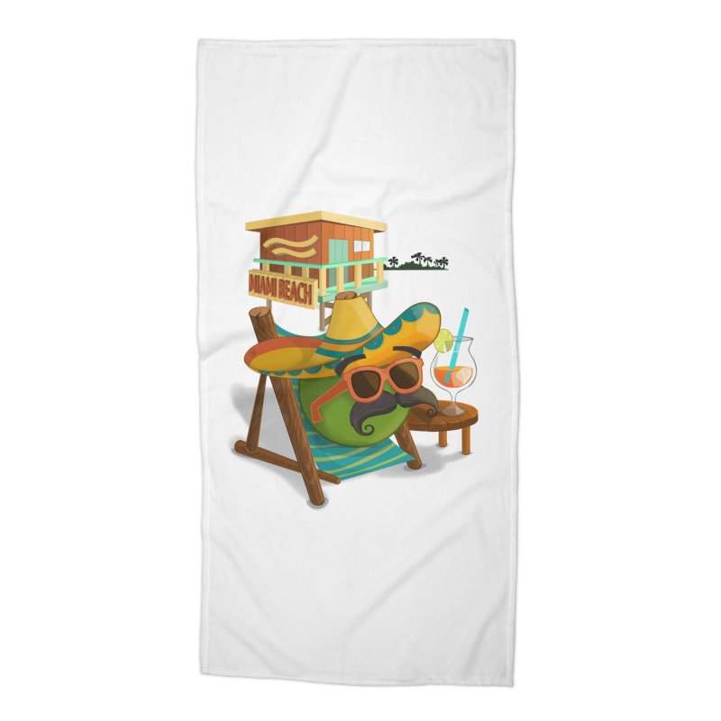 Juan at Miami Beach Accessories Beach Towel by Mimundogames's Artist Shop