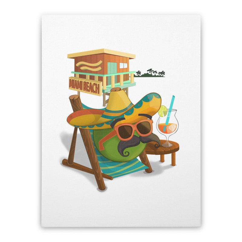 Juan at Miami Beach Home Stretched Canvas by Mimundogames's Artist Shop
