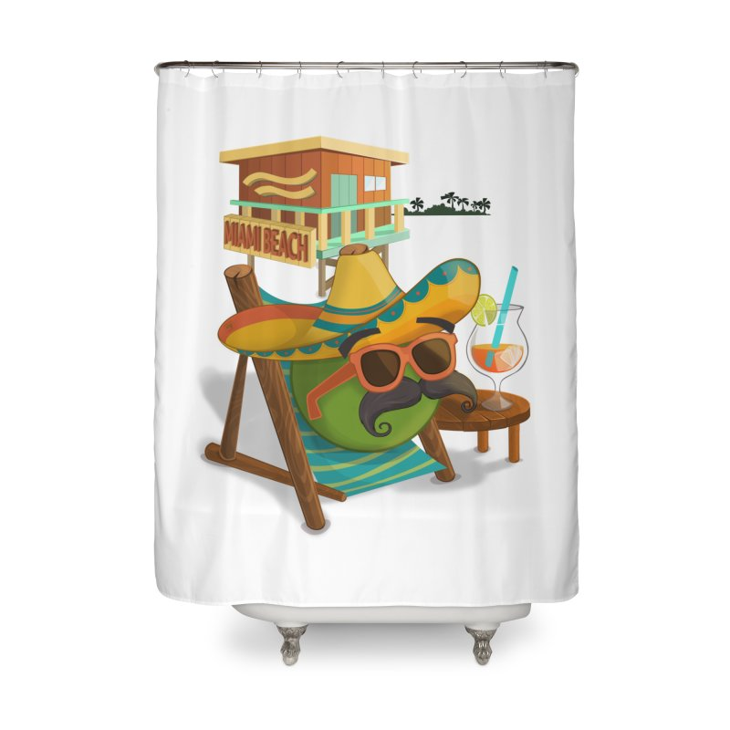 Juan at Miami Beach Home Shower Curtain by Mimundogames's Artist Shop