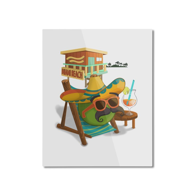 Juan at Miami Beach Home Mounted Aluminum Print by Mimundogames's Artist Shop