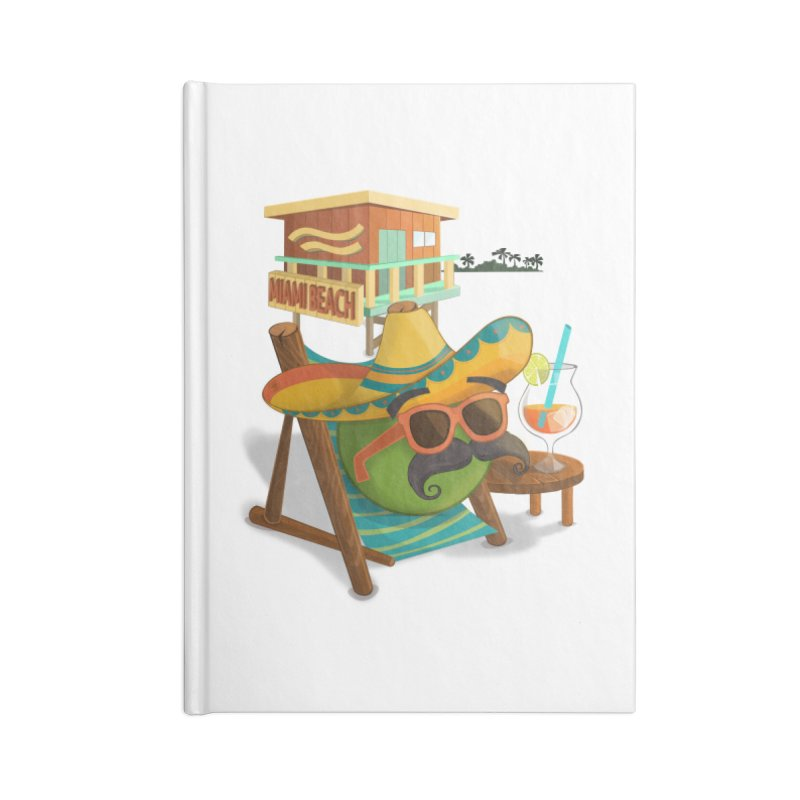 Juan at Miami Beach Accessories Lined Journal Notebook by Mimundogames's Artist Shop