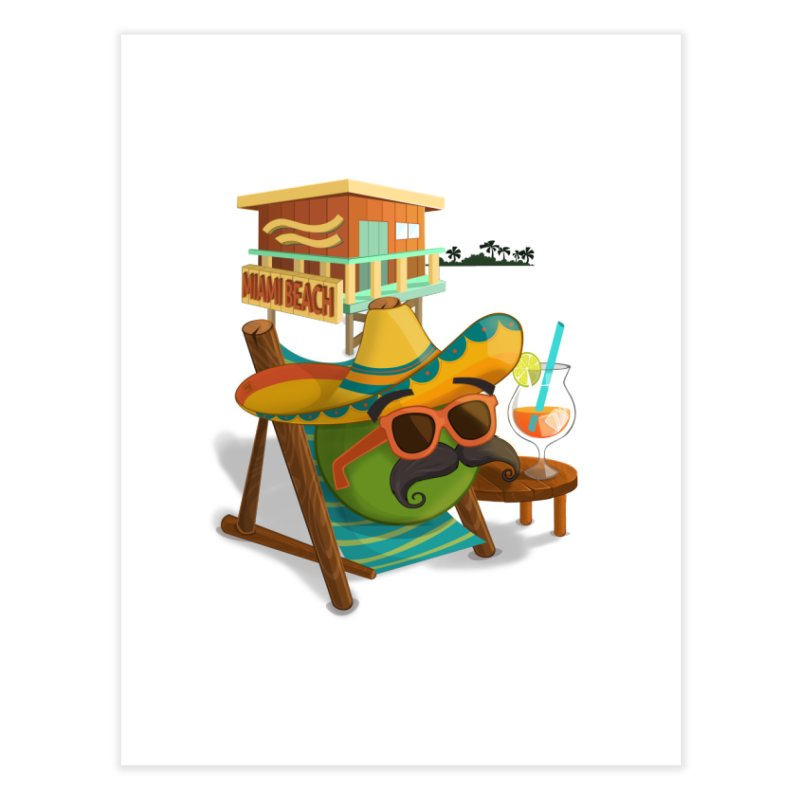 Juan at Miami Beach Home Fine Art Print by Mimundogames's Artist Shop