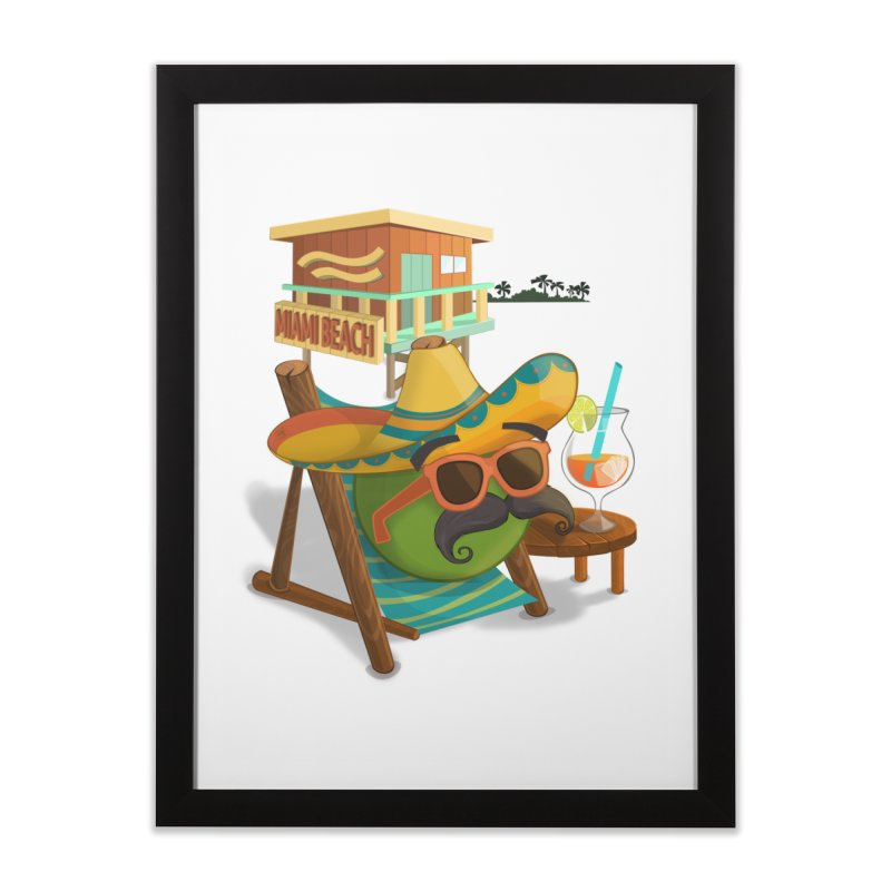 Juan at Miami Beach Home Framed Fine Art Print by Mimundogames's Artist Shop