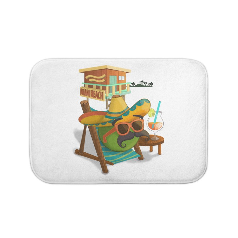 Juan at Miami Beach Home Bath Mat by Mimundogames's Artist Shop