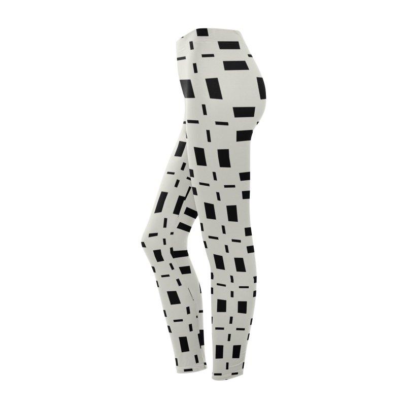 Black Tiles Women's Bottoms by Miniscule Graphics