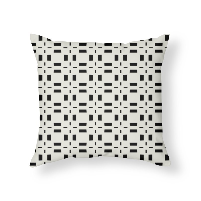 Black Tiles Home Throw Pillow by Miniscule Graphics