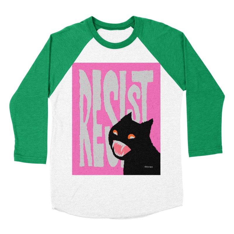 RESIST Women's Baseball Triblend T-Shirt by Mister Reusch's Artist Shop