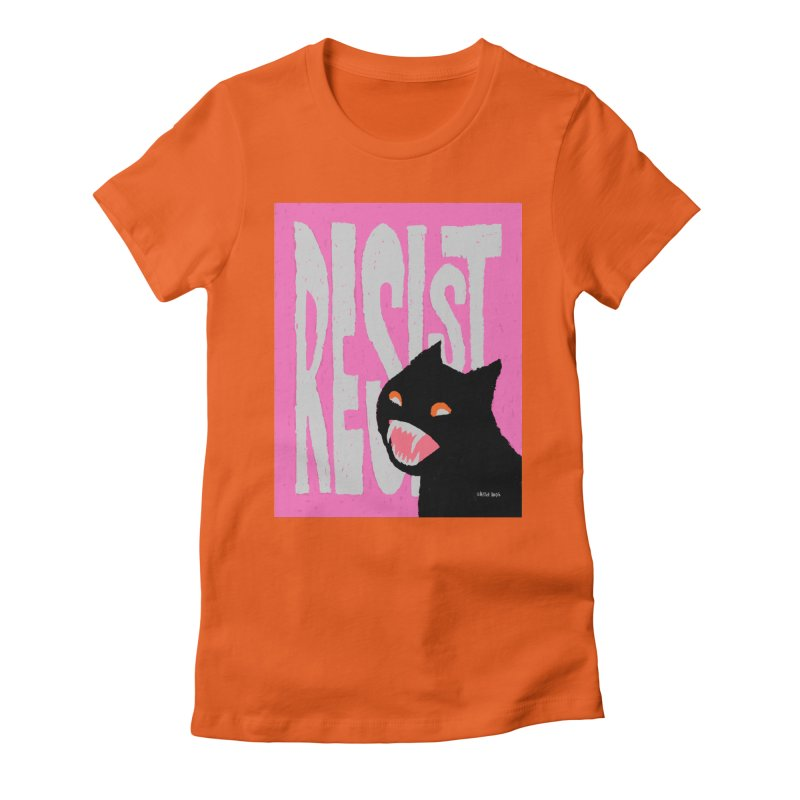 RESIST Women's Fitted T-Shirt by Mister Reusch's Artist Shop