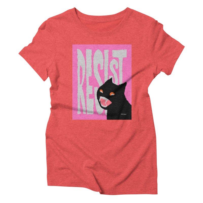RESIST Women's Triblend T-Shirt by Mister Reusch's Artist Shop