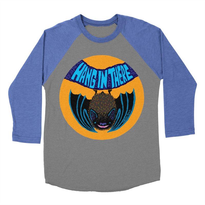 Hang In There Men's Baseball Triblend T-Shirt by Mister Reusch's Artist Shop