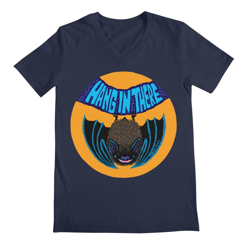 Hang In There Men's V-Neck by Mister Reusch's Artist Shop