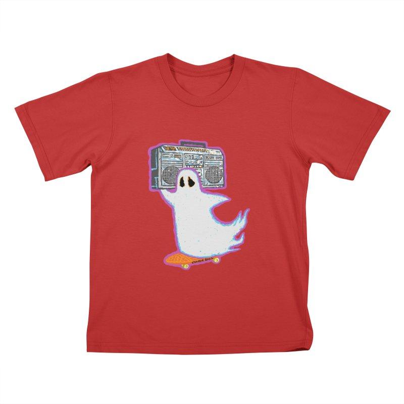 BOOmbox Kids T-Shirt by Mister Reusch's Artist Shop