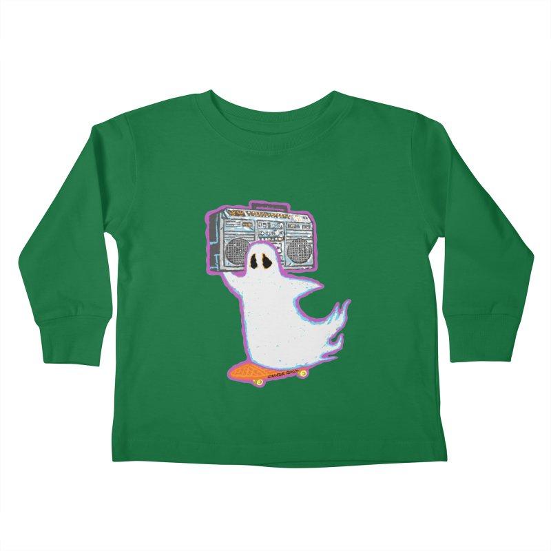 BOOmbox Kids Toddler Longsleeve T-Shirt by Mister Reusch's Artist Shop
