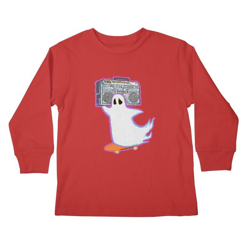 BOOmbox Kids Longsleeve T-Shirt by Mister Reusch's Artist Shop
