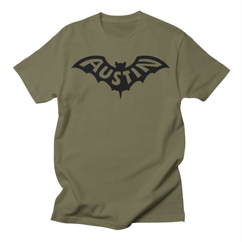 Austin Bat Logo (black print) Men's T-Shirt by Modernist Press's Artist Shop