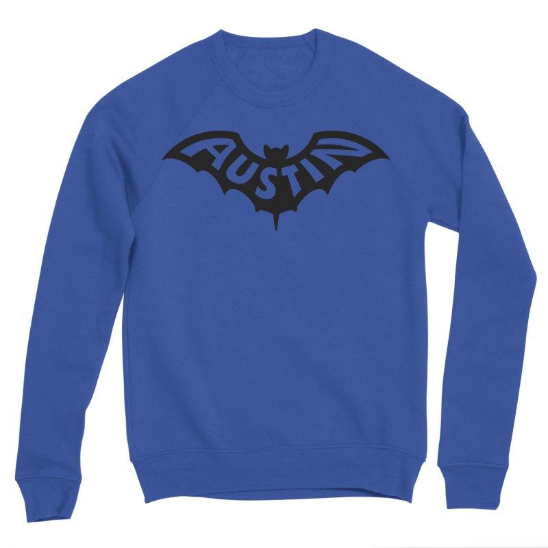 Austin Bat Logo (black print) Men's Sweatshirt by Modernist Press's Artist Shop