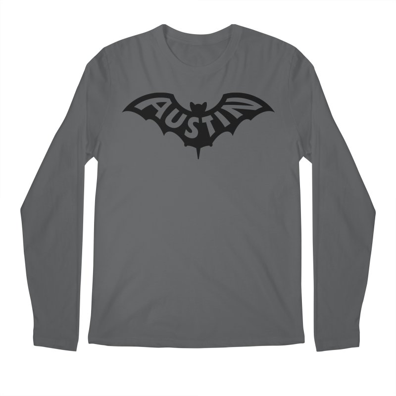 Austin Bat Logo (black print) Men's Longsleeve T-Shirt by Modernist Press's Artist Shop