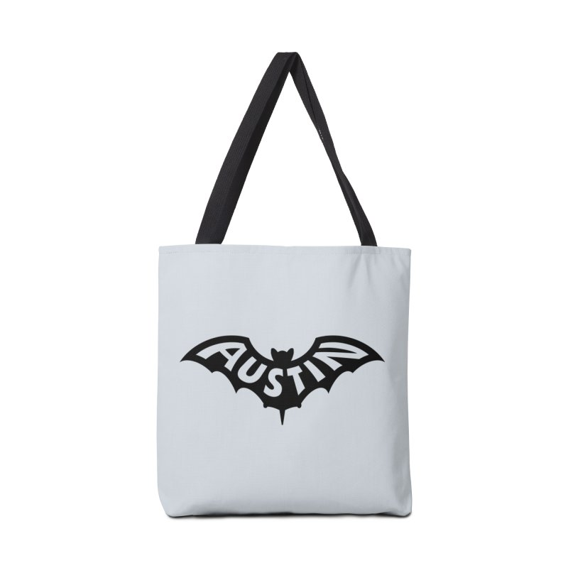 Austin Bat Logo (black print) Accessories Bag by Modernist Press's Artist Shop