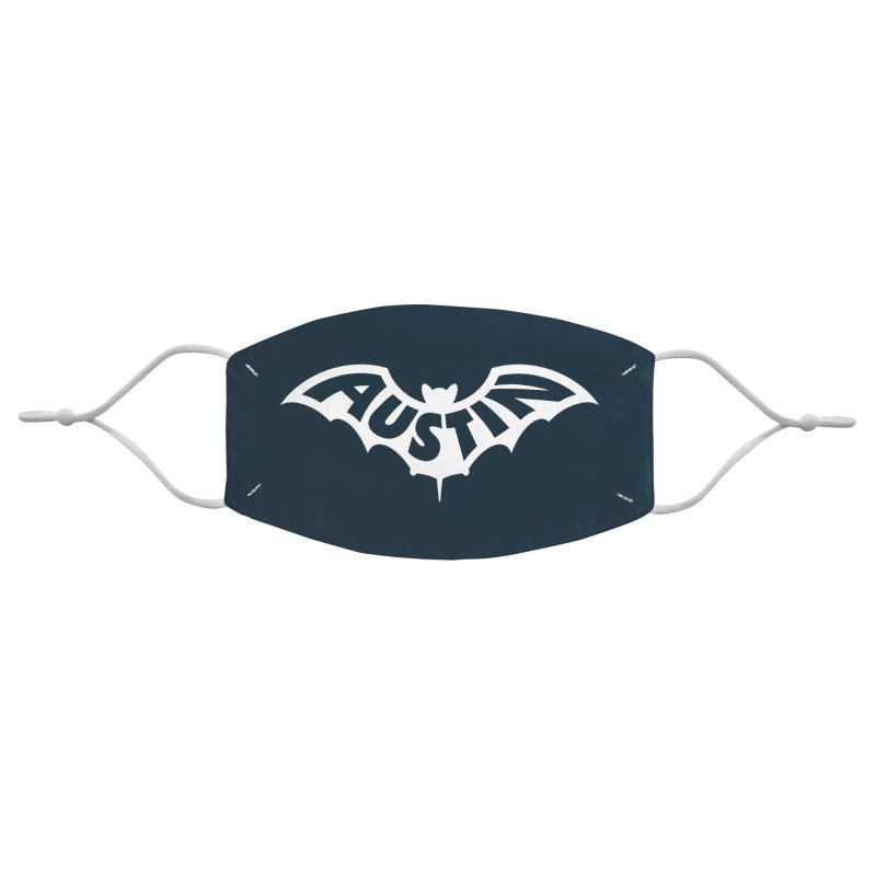 Austin Bat Logo (white print) Accessories Face Mask by Modernist Press's Artist Shop