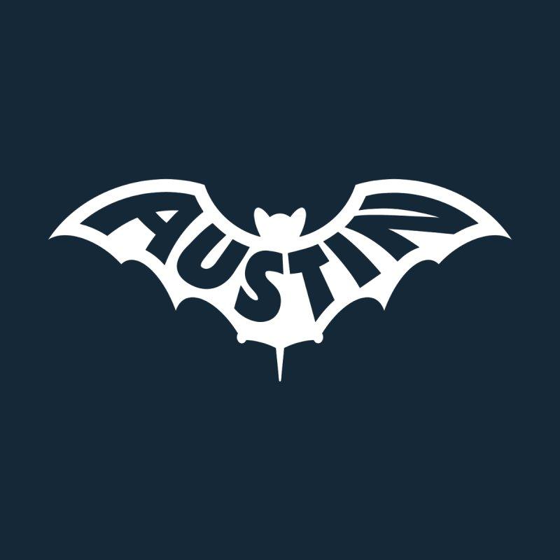 Austin Bat Logo (white print) Women's T-Shirt by Modernist Press's Artist Shop