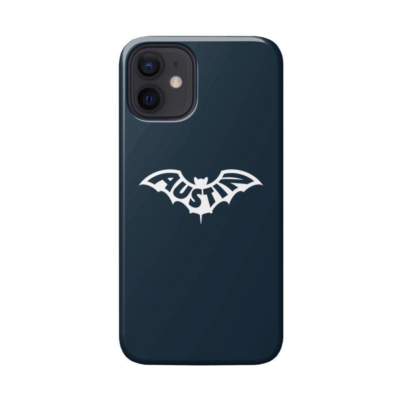 Austin Bat Logo (white print) Accessories Phone Case by Modernist Press's Artist Shop