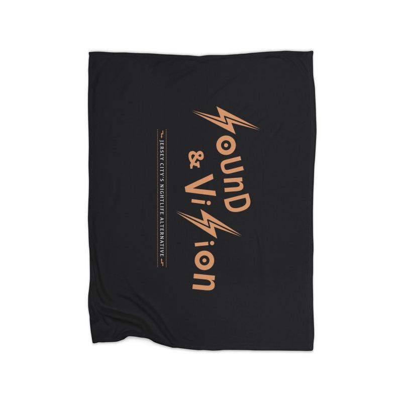 Sound & Vision Logo Home Blanket by Modernist Press's Artist Shop