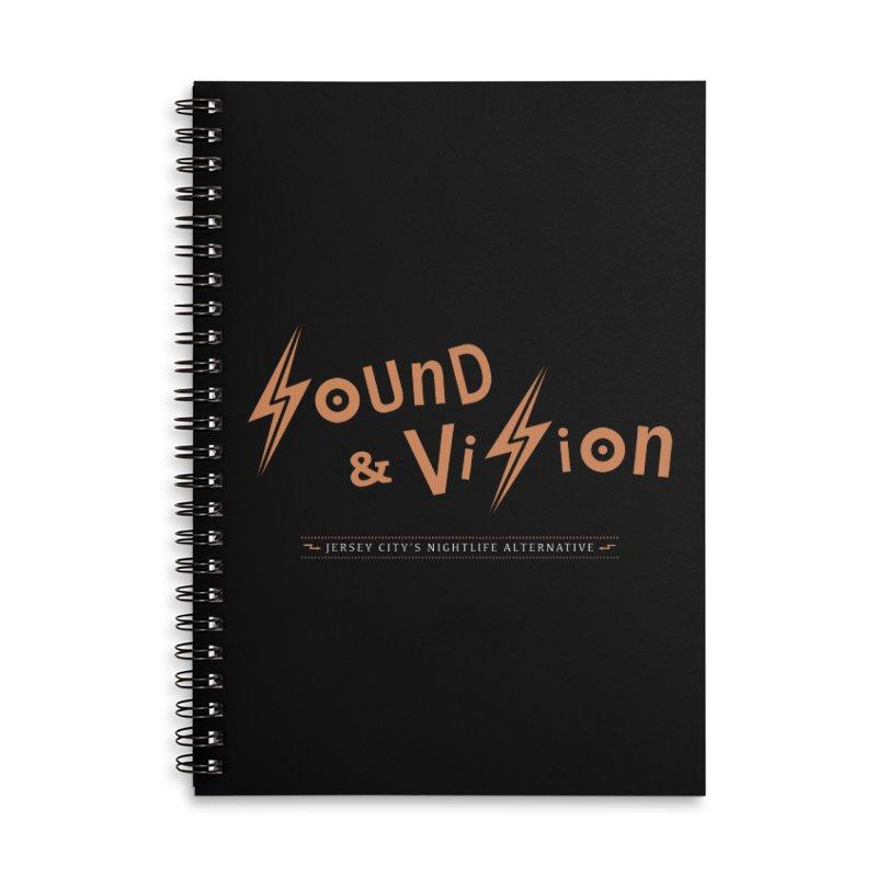 Sound & Vision Logo Accessories Notebook by Modernist Press's Artist Shop