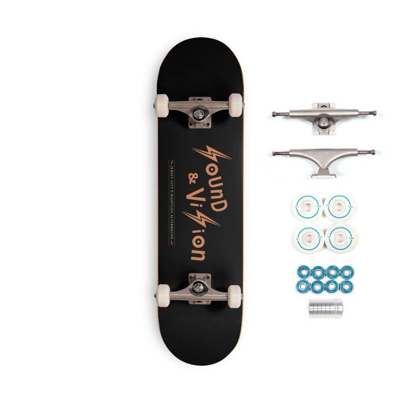 Sound & Vision Logo Accessories Skateboard by Modernist Press's Artist Shop