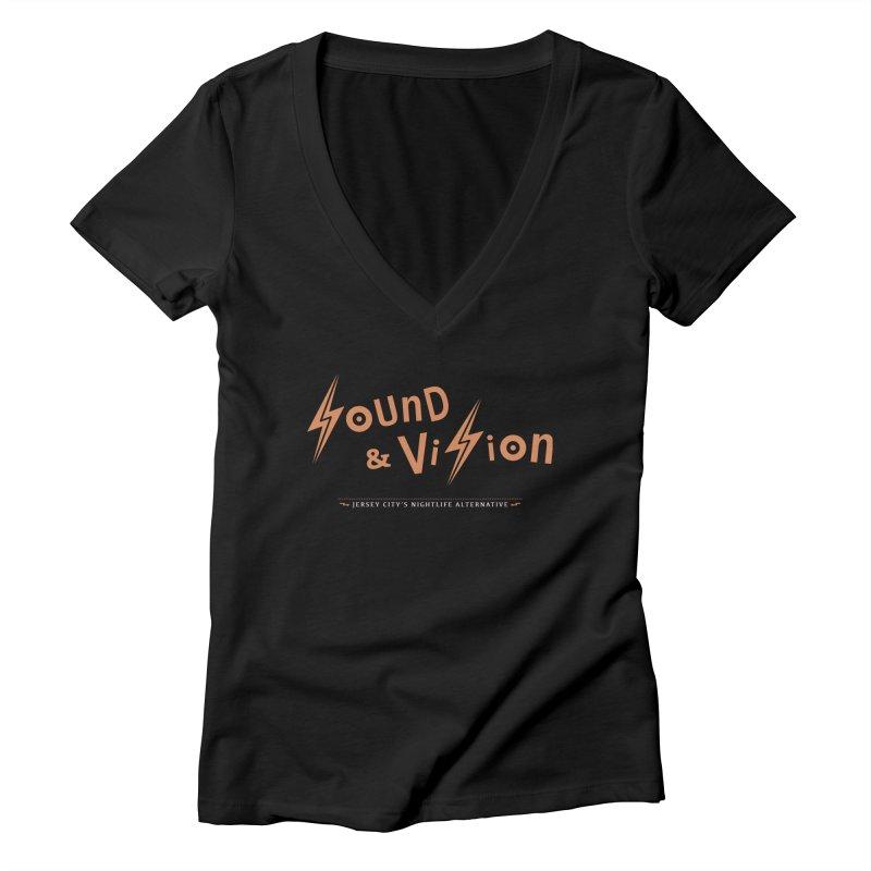 Sound & Vision Logo Women's V-Neck by Modernist Press's Artist Shop