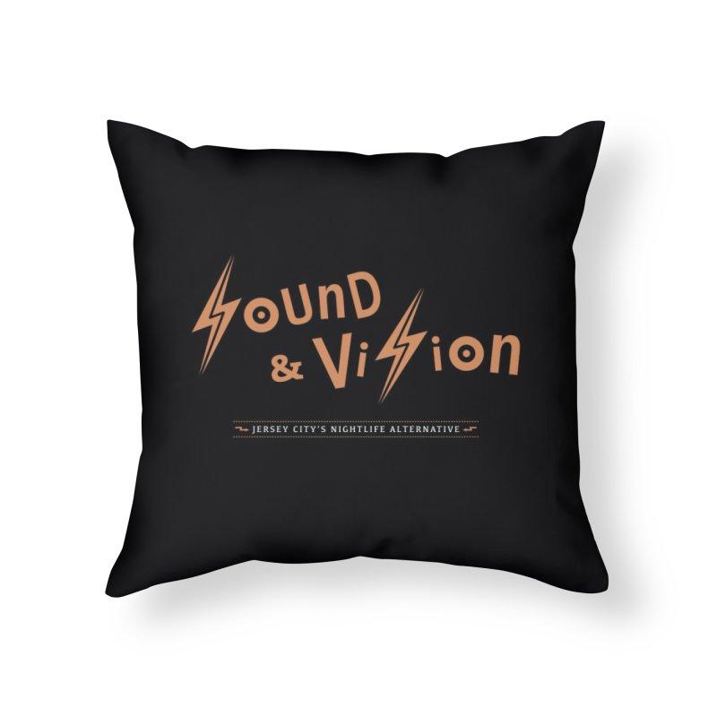 Sound & Vision Logo Home Throw Pillow by Modernist Press's Artist Shop