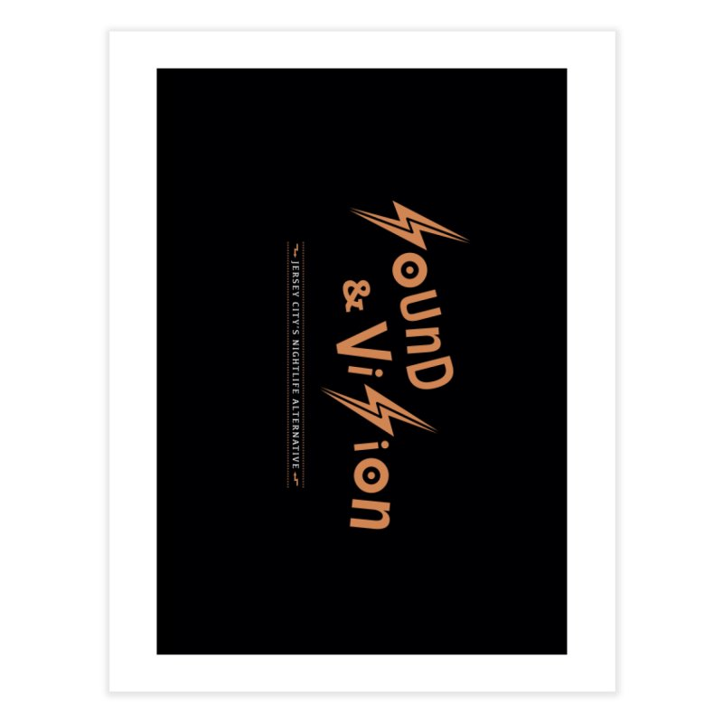 Sound & Vision Logo Home Fine Art Print by Modernist Press's Artist Shop