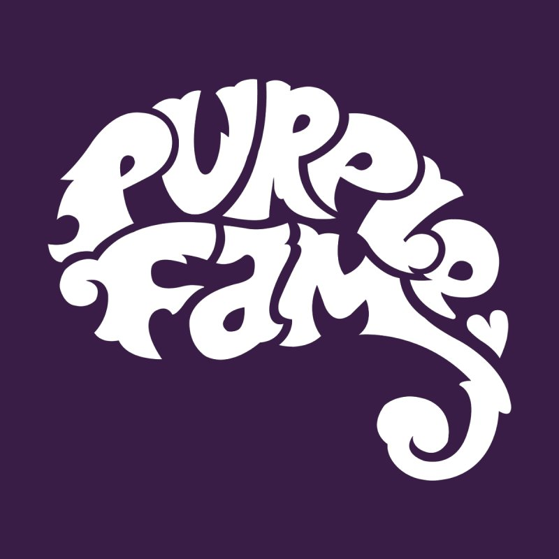 Purple Fam Logo (white print) Men's T-Shirt by Modernist Press's Artist Shop