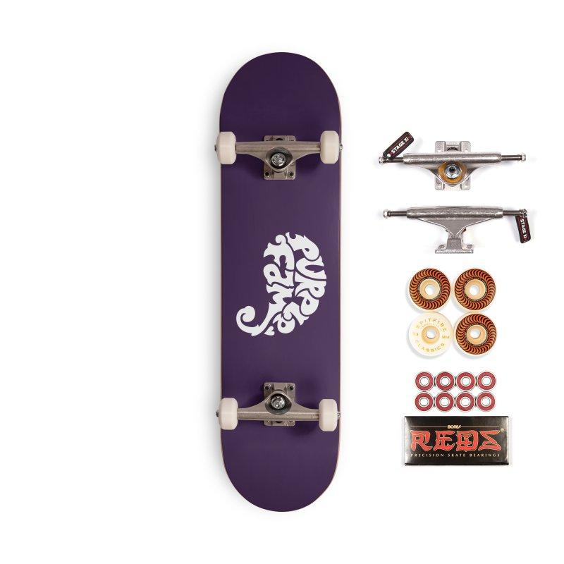 Purple Fam Logo (white print) Accessories Skateboard by Modernist Press's Artist Shop